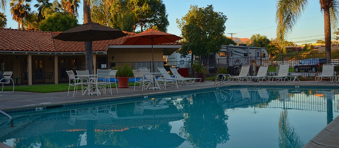 Enjoy the pool at Oak Creek RV Resort