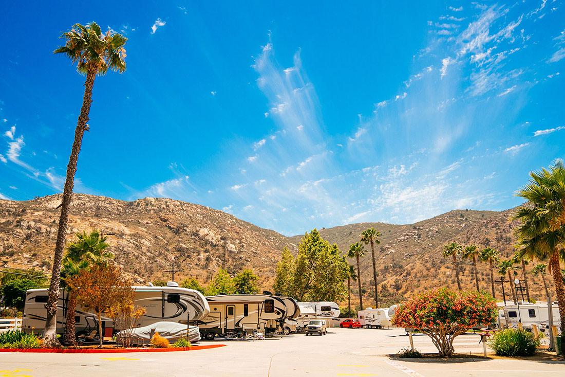 Plenty of blue skies at Oak Creek RV Resort